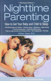 """Nighttime parenting. How to get your baby and child to sleep"" by William Sears. Available for borrowing by clients of Elemental Beginnings Doula Adelaide"