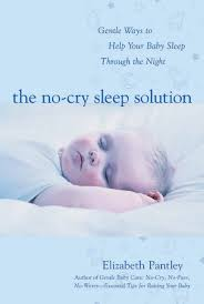 """The no-cry sleep solution"" book cover.  Available for borrowing by clients of Elemental Beginnings Birth and Postnatal Services"